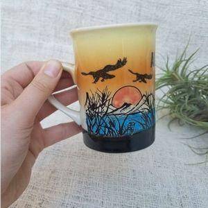 Vintage 70s Alaska Souvenir State Small Mug